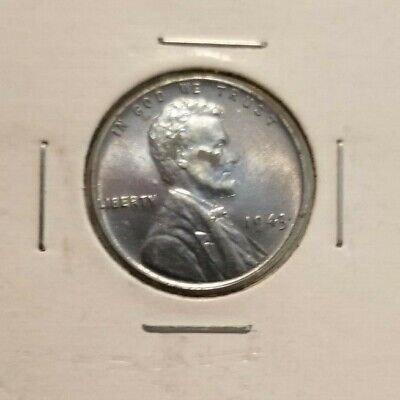 1943 P Steel Lincoln Wheat Cent UNC BU 1¢ Penny *FREE SHIPPING*