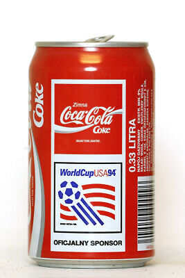 1994 Coca Cola can from Poland, World Cup USA94