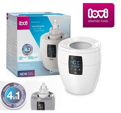 Lovi Bottle Warmer grey or white 4in1 Fast Safe Universal
