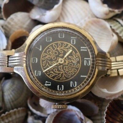 Luch 1801 Gold Au  Mechanical Russian   Ussr Watches  Women's Watches  071