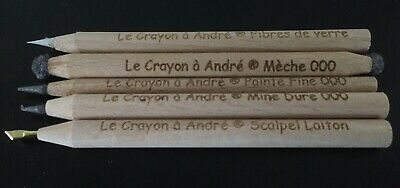 Set of 5 Andre's pencils, fantastic cleaning pencils for coins and relics