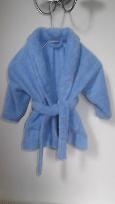 Next Soft Plush Blue Dressing Gown  6 - 12 months   Cosy !