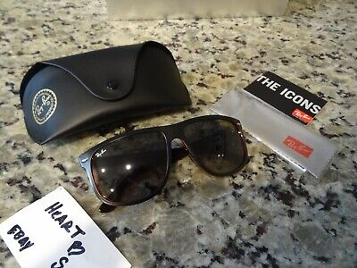 f3c298b25f9 Authentic Ray Ban RB4147 617187 Matte Black Red Transparent Sunglasses 56mm