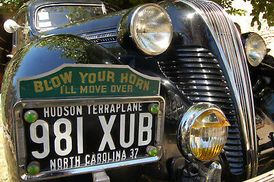 5 lovely rare fluorescent 30s/40s license plate 'jewels', fantastic yellow-green