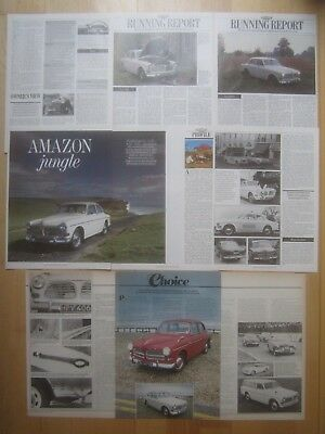 Volvo Amazon 120 121 122 122S Guides/ Reports/ Cuttings etc & Volvo PV544 Saloon