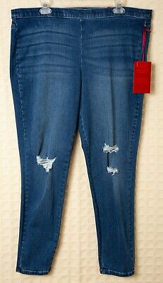 cf368326a9174a JENNIFER LOPEZ Jeggings STRETCH Leggings Skinny Jeans Plus JLO Pull-On  Ripped NW