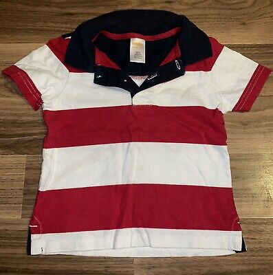 Gymboree Stars & Stripes Polo Style Shirt ~ 4th Of July ~ Size 18-24 Months