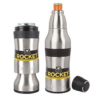 Orca Rocket Bottle And Can Hugger W/ Shot Cup And Bottle Opener  **NEW**