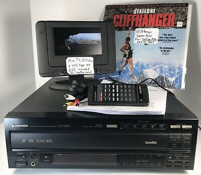 TESTED Pioneer CLD-M90 Laser Disc LD Combo 5 CD Player + Remote AV Cable Manual