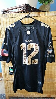 FAN 12 JERSEY Seattle Seahawks 12th Man Blue Home Men s M L XL 2XL ... a611b306e