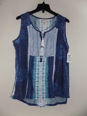61e6761ded4 Style co. Women s Plus Sleeveless Embroidered Peasant Top NWT Size 1X  WTB1196