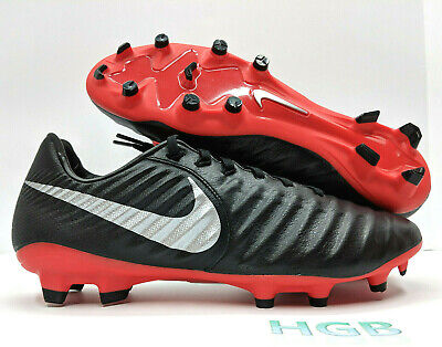 fd00234be Nike Tiempo Legend 7 Pro FG Soccer Cleats Mens Black Red AH7241-006 NIB