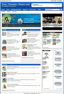 Mortgage & Refinancing Blog Website Business For Sale! Targeted Content Included