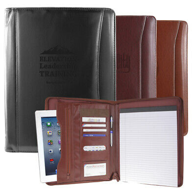 Italian Tuscan Leather Padfolio Portfolio Organizer Resume Folder: 3 Colors