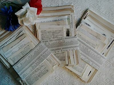 Vintage paper pages from old books French language France theme for art craft