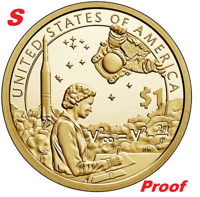 2019 S Proof Cameo Sacagawea Native American Mary Golda Ross Dollar $1 Coin
