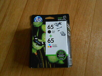 HP 65 Black / 65 Tri-Color Ink Genuine Cartridges Combo NEW (EXPIRES: JULY/2019)