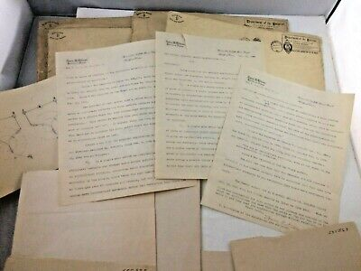 Lot of (6) 1890's United States Patent Office Patents Electric Switches Papers