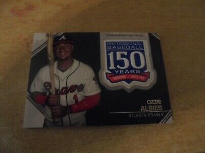 2019 Topps Baseball Series 1 - 150 Years Patch Card of Ozzie Albies ( Braves )