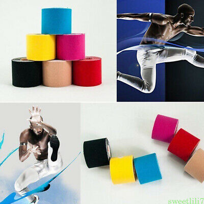 1Roll Sport Elastic Kinesiology Waterproof Tape Muscle Pain Care Therapeutic
