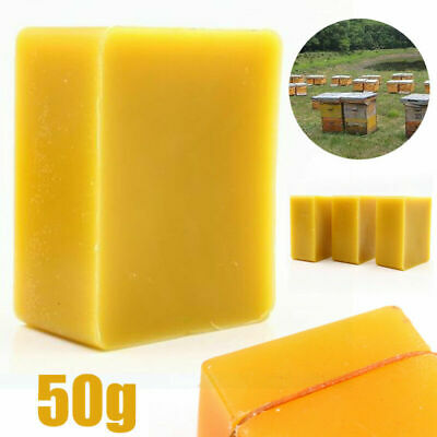 50g Organic Beeswax Cosmetic Grade Filtered Natural Pure Bees Wax Bars 1.76oz
