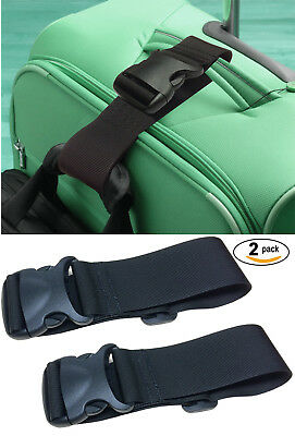 2 Pack add A Bag Luggage Straps, Suitcase Belt, Travel Accessories Made in USA