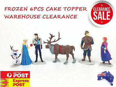 6pcs Disney FROZEN ANNA ELSA OLAF 11cm tall FIGURINE FIGURE Playset cake topper