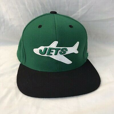 b959b08ae34 NFL NY Jets Mitchell   Ness Snapback Hat Vintage Collection New York NYJ Cap