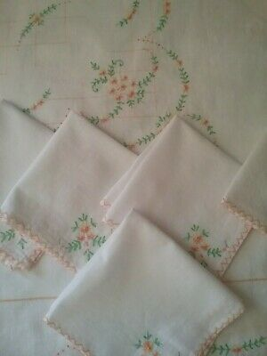 Embroidered Tablecloth and Napkins