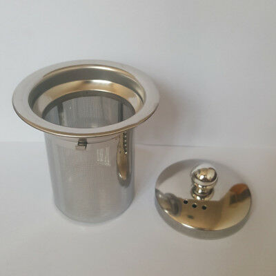 1 Stainless Steel Mesh Tea Infuser Reusable Strainer Loose Tea Leaf Spice Filter