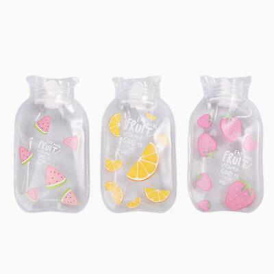 Cartoon Hot Water Bottle Hand Warmer Water Injection Storage Bag (Fruit A)