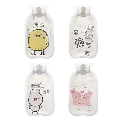 Cartoon Hot Water Bottle Hand Warmer Water Injection Storage Bag (Animal)