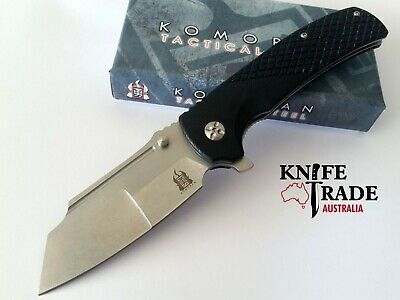 Komoran KO022 Folding Pocket Knife Flipper Deployment Sheepsfoot G10 Handle EDC