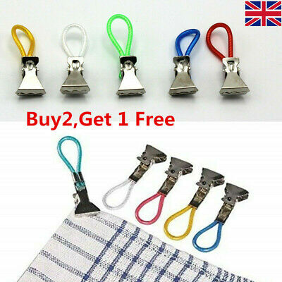 5Pcs Tea Towel Hanging Clips Clip on Hooks Loops Hand Towel Hangers
