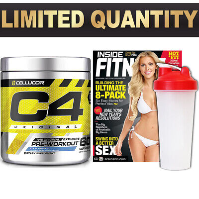 Cellucor C4 Id 60 Serves Serve Pre Workout C4 Original Energy Creatin 3 Ser Whey