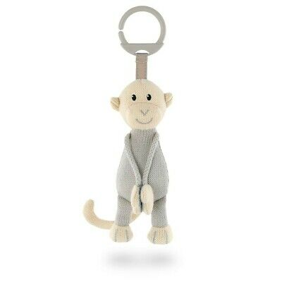 Matchstick Monkey - Knitted Hanging Monkey Toy (Grey)