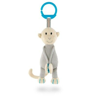Matchstick Monkey - Knitted Hanging Monkey Toy (Blue)