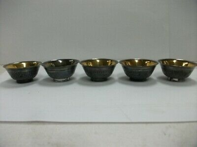 Japanese Antique pure silver Japanese SAKE cup 5 pieces  #83g./2.92oz
