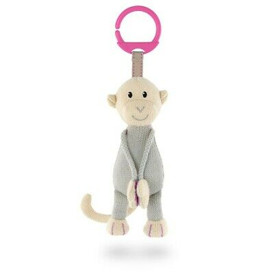 Matchstick Monkey - Knitted Hanging Monkey Toy (Pink)