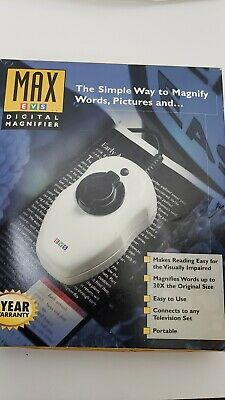 Max Enhanced Vision EVS Digital Color Magnifier  Pre-owned excellent condition