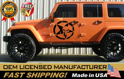 Army Decal sticker kit for Jeep Wrangler RUBICON Star defence bumper roller grip