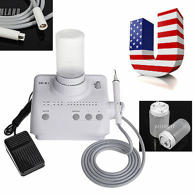 Dental Ultrasonic Piezo Scaler EMS Woodpecker & Handpiece/Tips Liquid Dosing SKE