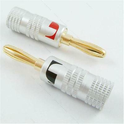 Nakamichi Speaker banana plug Adapter Audio connector 24K Gold Plated Copper _^.