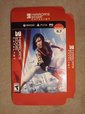 Mirrors Edge Catalyst RARE promotional game Display Box advert Xbox One PS4 MINT