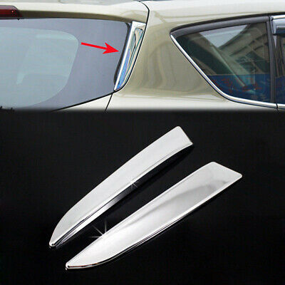 1Pair Rear Window Cover For Ford Escape Kuga Chrome Waterproof Side Trim Latest