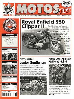MOTOS D'HIER 59 - Rumi 125 junior, Royal enfield 250 clipper
