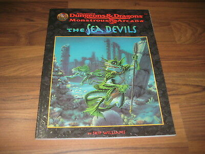 AD&D 2nd Monstrous Arcana The Sea Devils Accessory TSR 9539 + Map New Mint
