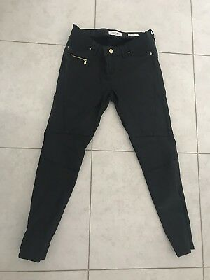 Jeanswest Maternity Skinny 7/8 Leather Look Size 14 Jeans Nwot