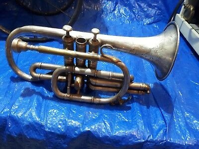 Antique Cornet silver plated 1918 built