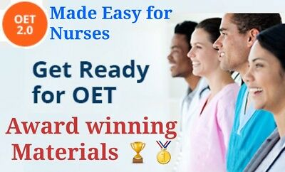 OET 2.0 Materials for Nurses✔✔UPDATED January 2019✔400+Materials✔✔ALL IN ONE DVD